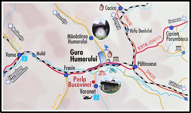 Perla Bucovinei - Voronet - Locatie
